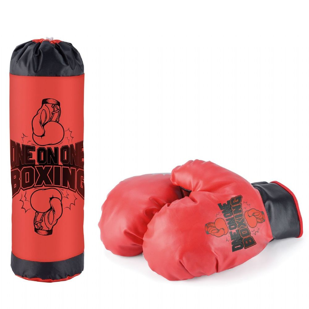 Kids Children Boxing Punch Bag Punching Bags Gloves Set Fitness Gift Pack